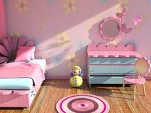 комната s девушки самомоднейшая Стоковые Изображения