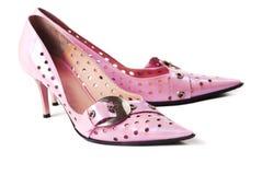 女性脚跟高s鞋子 免版税库存图片