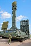 S-300V Abschussrampenfahrzeug Stockfotos