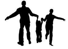 мальчик вручает родителя s Стоковая Фотография RF