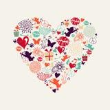 Поздравительная открытка влюбленности сердца дня ` s валентинки бесплатная иллюстрация