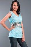 服装被绣的印第安s妇女 免版税库存照片