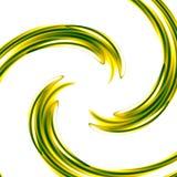 与绿色螺旋-同心波纹的抽象派背景-图形设计元素-漩涡例证-湿油漆-颜色S 免版税库存照片