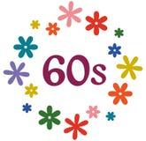 Логотип 1960s силы цветка изолированный на белизне Стоковое Изображение RF