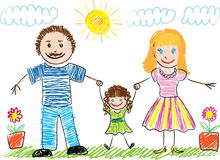 чертеж s ребенка Стоковая Фотография RF