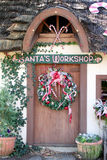 门s圣诞老人讨论会 库存照片