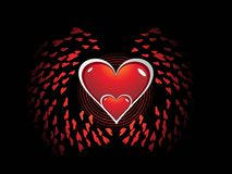 s abstrakcjonistyczny valentine Zdjęcia Stock