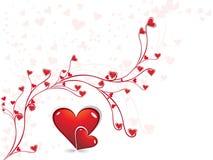 s abstrakcjonistyczny valentine Zdjęcie Royalty Free