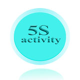 5S activity icon or symbol image concept design with business wo Stock Photos
