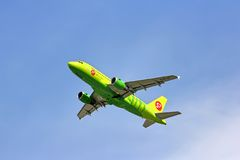 S7 Airlines Airbus A319 Royalty Free Stock Images