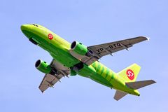 S7 Airlines Airbus A319 Royalty Free Stock Photo