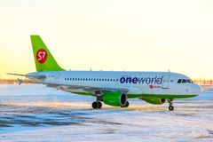 S7 Airlines Airbus A319 Royalty Free Stock Photography