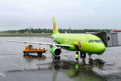 S7 Airlines Airbus A319 Stock Image