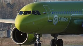 S7 airlines airplane on runway