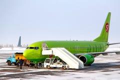 S7 Airlines Boeing 737 Fotografia Stock Libera da Diritti