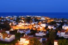 S'algar en Espagne sur l'astuce du sud de l'île regardant vers la mer Méditerranée Photographie stock libre de droits