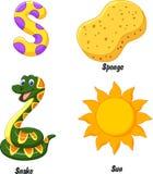 S alphabet cartoon Royalty Free Stock Photo