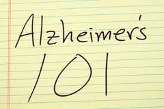 ` S 101 Alzheimer на желтой законной пусковой площадке Стоковые Изображения RF