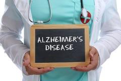 ` S Alzheimers-Krankheit Alzheimer Alzheimer kranke Krankheit gesundes hea lizenzfreies stockfoto