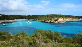 S`Amarador. The azure waters of S`Amarador, Mallorca, Spain Royalty Free Stock Image