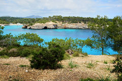 S`Amarador. The azure waters of S`Amarador, Mallorca, Spain Royalty Free Stock Images