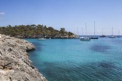 S'Amaradorstrand in Mallorca Royalty-vrije Stock Afbeeldingen