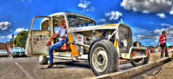 1930s American hot rod Royalty Free Stock Photo