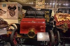 1900s amerikanischer Motorcoach im Museum Lizenzfreie Stockfotos