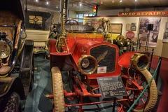 1900s amerikanischer Motorcoach im Museum Lizenzfreie Stockfotografie