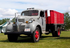 1940s Antique Restored Red And Grey Dodge Farm Truck Royalty Free Stock Images