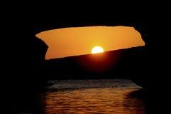 S'Archittu Sonnenuntergang stockbild