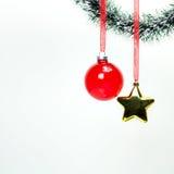 s'arrêter de décorations de Noël photographie stock libre de droits