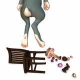 S'arrêter de lapin de Pâques illustration de vecteur