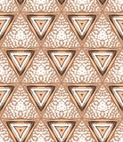 1930s Art deco geometric pattern with triangles Stock Images