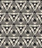 1930s art deco geometryczny wzór z trójbokami Zdjęcie Royalty Free