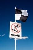 sätta på land flaggasäkerhet Royaltyfri Foto