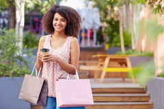 She's an avid shopper Stock Images
