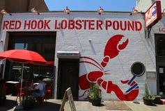 Sławna Czerwona haczyka homara funta restauracja w Brooklyn, Nowy Jork Zdjęcie Stock