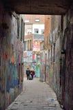 Sławna graffiti ulica w Ghent Fotografia Royalty Free