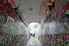 Sławna graffiti ulica w Ghent Obrazy Royalty Free