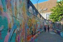 Sławna graffiti ulica w Ghent Zdjęcia Royalty Free