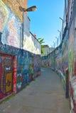 Sławna graffiti ulica w Ghent Zdjęcie Royalty Free