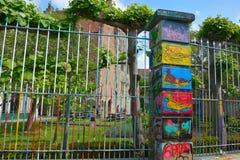 Sławna graffiti ulica w Ghent Obrazy Stock