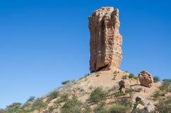 Sławna wysoka rockowa formacja Fingerklippe w Namibia lub Vingerklip, afryka poludniowa Zdjęcia Stock