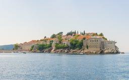 Sławna wyspa Sveti Stefan w Adriatyckim morzu blisko Budva Montenegro Obraz Royalty Free