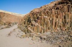 Sławne Organowych drymb rockowe formacje w Damaraland, Namibia, afryka poludniowa Zdjęcia Royalty Free