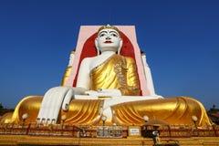 Sławni cztery Buddhas Kyaikpun pagoda, Bago, Myanmar, Azja fotografia royalty free