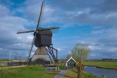 Sławni holenderscy wiatraczki, Kinderdijk, holandie Zdjęcia Royalty Free