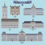 Sławni miejsca w Belgia Fotografia Stock