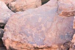 Sławni prehistoryczni rockowi rytownictwa Fotografia Royalty Free